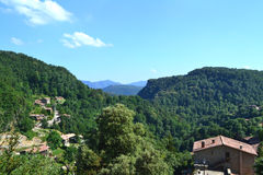 View of Rupit, Barcelona, Spain. View of a landscape of Rupit village in Barcelona, Spain Stock Photography