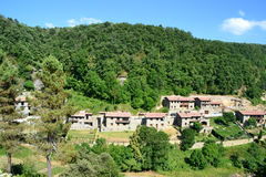 View of Rupit, Barcelona, Spain. View of a landscape of Rupit village in Barcelona, Spain Royalty Free Stock Photos