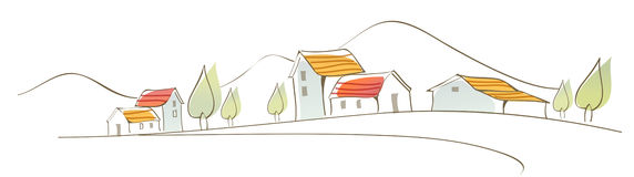The view of Rural houses Royalty Free Stock Images