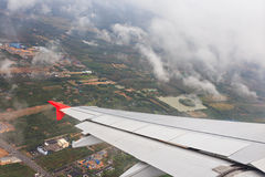 View of the rural from plane window Royalty Free Stock Photography
