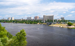View of Rusanivka, one of Kiev districts Stock Photo