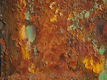 View of Rust On A Iron Beam royalty free stock photo