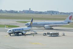 Boeing 737-800 view Royalty Free Stock Photography