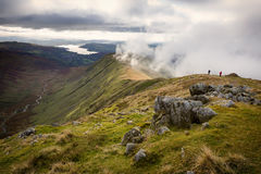 View of Rydal Fell from Great Rigg in Cumbria, UK Stock Image