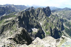 View from Rysy peak in Tatry mountains. In Poland stock image
