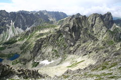 View from Rysy peak in Tatry mountains Stock Photos