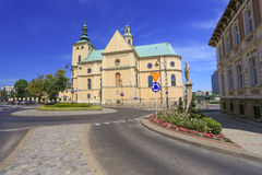A view of the Rzeszow historical building in Poland. A view of the Rzeszow town in Poland the monastery Stock Photos
