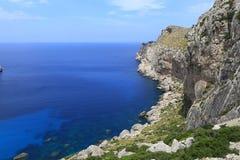View of Sa Calobra bay Royalty Free Stock Images
