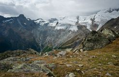 View on saas fee surrounding Royalty Free Stock Photos