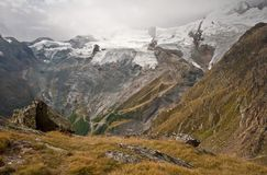 View on saas fee surrounding Stock Photography