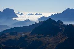 View Saas Pordoi Dolomites Stock Photos