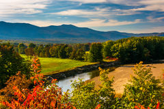 View of the Saco River in Conway, New Hampshire. royalty free stock photos