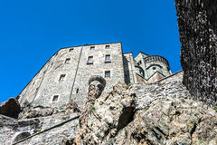 View of the Sacra di San Michele, Turin, Italy Royalty Free Stock Photography