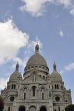 View of Sacre Coeur Basilica in Paris France Stock Photos
