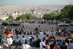 View from sacre coeur basilica Stock Image