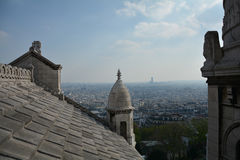 View from Sacre coeur. On Paris stock images