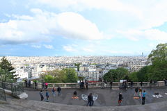 View from Sacre Cour, Paris Royalty Free Stock Photography
