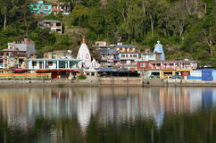 View on sacred Rewalsar lake Royalty Free Stock Image