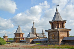 View of the Sacred and Troitsk Trifonov-Pechengsky man's monastery Royalty Free Stock Photo