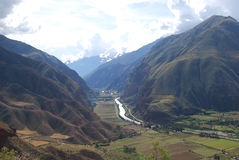 View the Sacred Valley of the Incas Stock Photography