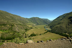 View of the sacred valley Stock Image