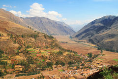 View of the Sacred valley, Peru Stock Photo