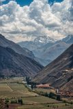 View of Sacred valley in Peru royalty free stock photos