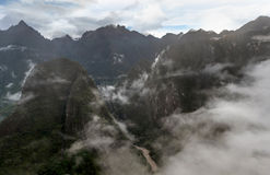 View of the sacred Valley and Urubamba in Peru Royalty Free Stock Image