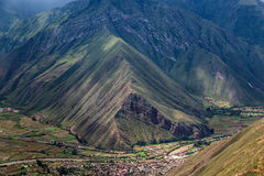View of the sacred Valley and Urubamba in Peru Stock Photography