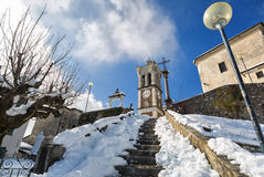 View of Sacro Monte di Varese, UNESCO World Heritage Royalty Free Stock Images