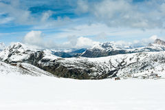 The view from the saddle Giau Pass, Italy Stock Image