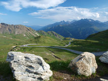 The view from the saddle Hochtor Royalty Free Stock Photos
