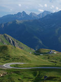 The view from the saddle Hochtor Royalty Free Stock Photography