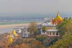 View from Sagaing hill Royalty Free Stock Photos
