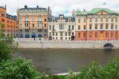 View of the Sagerska Palatset in Stockholm Royalty Free Stock Photos