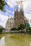 View of Sagrada Familia in Barcelona stock photos