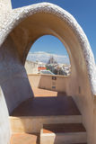 View of Sagrada Familia from Casa Mila Stock Images