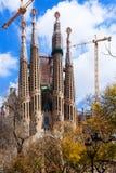 View of Sagrada Familia by   Gaudi. Barcelona Royalty Free Stock Photos
