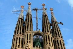 View of the Sagrada Familia a large Roman Catholic church in Barcelona Spain Stock Photo
