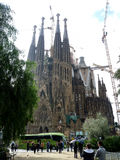 View of the Sagrada Familia a large Roman Catholic church in Barcelona Spain Royalty Free Stock Photography