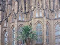 View of the Sagrada Familia a large Roman Catholic church in Barcelona Spain Stock Photos