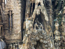 View of the Sagrada Familia a large Roman Catholic church in Barcelona Spain Royalty Free Stock Images