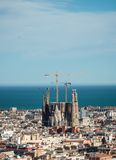 View at Sagrada Familia from Park Guell, on March 08, 2013 in Barcelona, Spain Stock Photos