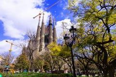 View of Sagrada Familiai. Barcelona Stock Photo