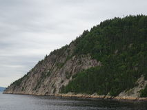 View of the Saguenay River from Saint Rose du Nord in Canada. Royalty Free Stock Photos