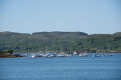 View of the sailing moorings in Oban Stock Image