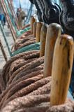 Close-up of sailing vessel equipment royalty free stock photos