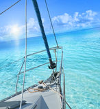 View from sailing yacht. Royalty Free Stock Image