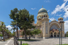 View of Saint Andrew Church, the largest church in Greece, Patras, Peloponnese,  Greece Stock Photography