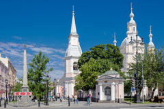 View of Saint Andrew's Cathedra and Andreyevsky Boulevard, St. Petersburg Royalty Free Stock Image